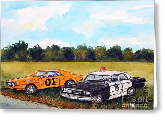 Leipers Fork Tennessee Paintings Greeting Cards - Cuff Em n Stuff Em Greeting Card by Tim Ross