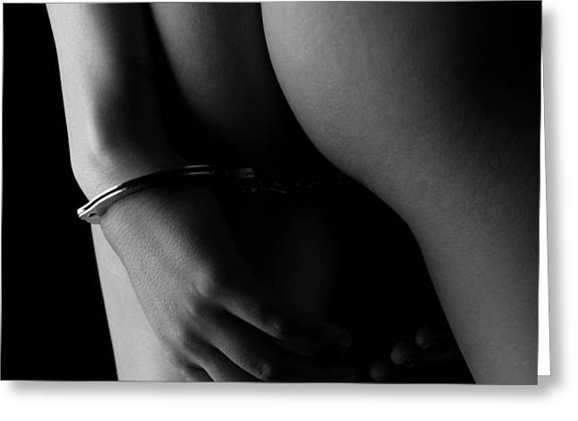 Cuffed to the rear Greeting Card by Stuart Thomson