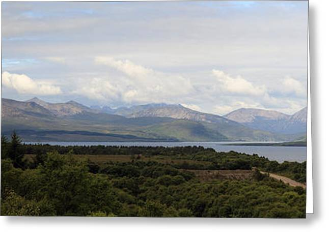 Print Photographs Greeting Cards - Cuillins Mountain range - Panorama Greeting Card by Maria Gaellman
