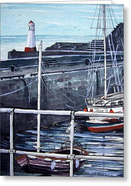 Masts Greeting Cards - Cullen Beacon Greeting Card by Trudy Kepke
