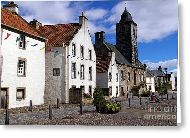 Historic Architecture Greeting Cards - Culross Fife Scotland Greeting Card by John Butterfiled