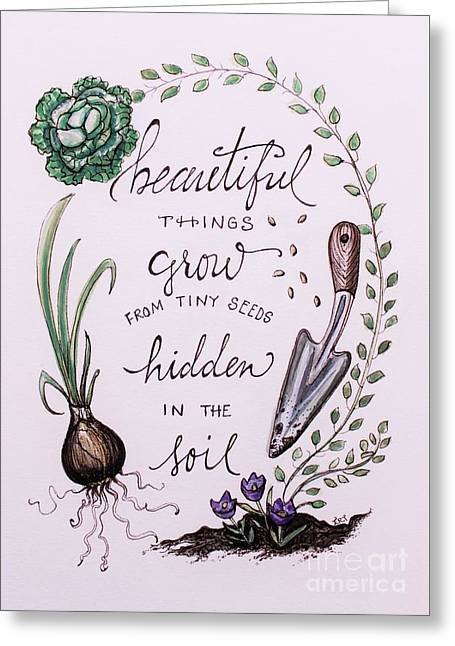 Cultivate Greeting Card by Elizabeth Robinette Tyndall