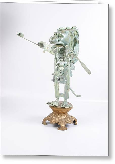 Standing Sculptures Greeting Cards - Cum-ere Greeting Card by Michael Jude Russo