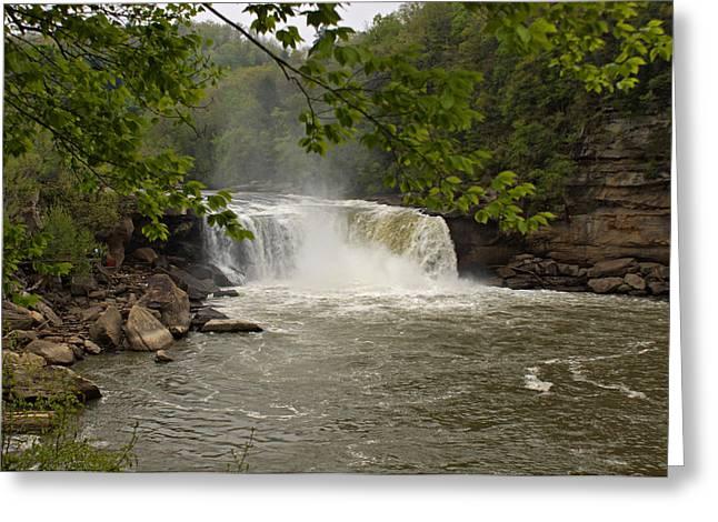 Cumberland River Greeting Cards - Cumberland Falls Greeting Card by Sandy Keeton