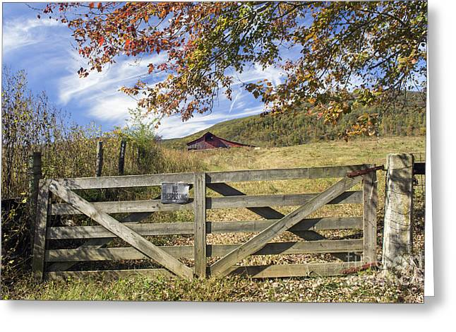 No Trespassing Greeting Cards - Cumberland Farm - D009719 Greeting Card by Daniel Dempster