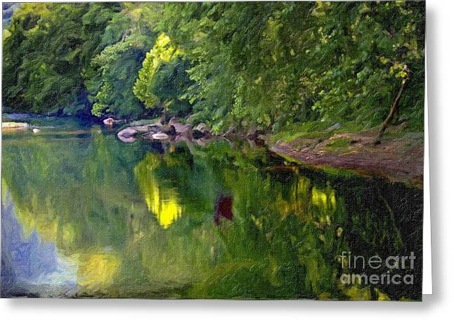 Tennessee River Greeting Cards - Cumberland River Foliage Greeting Card by Bob Pickett