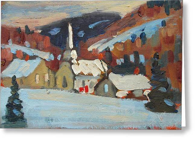 Berkshire Hills Living Greeting Cards - Cummington Study Greeting Card by Len Stomski