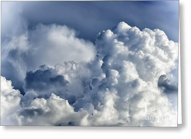 Destructive Greeting Cards - Cumulonimbus Cloud Greeting Card by Thomas R Fletcher