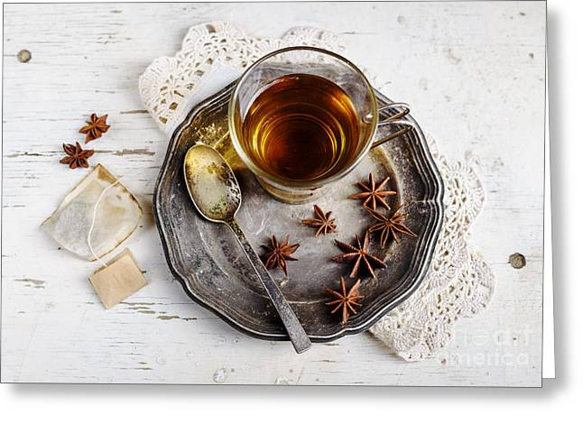 Lemon Art Greeting Card featuring the photograph Cup Of Tea by Jelena Jovanovic