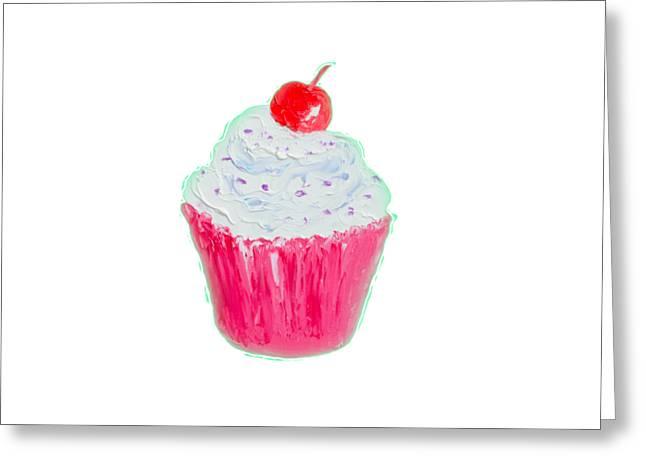 Cupcake Painting Greeting Card by Jan Matson