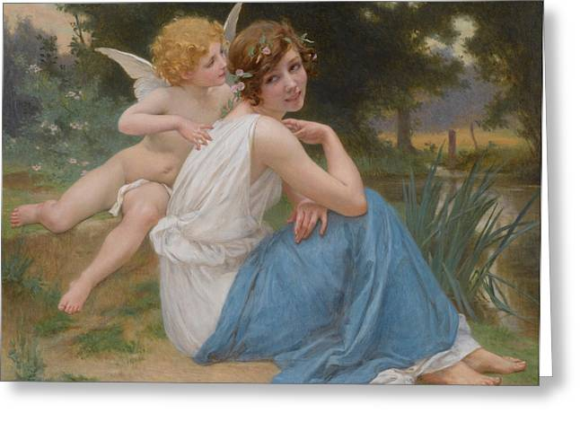 Cupid And Psyche Greeting Card by Guillaume Seignac