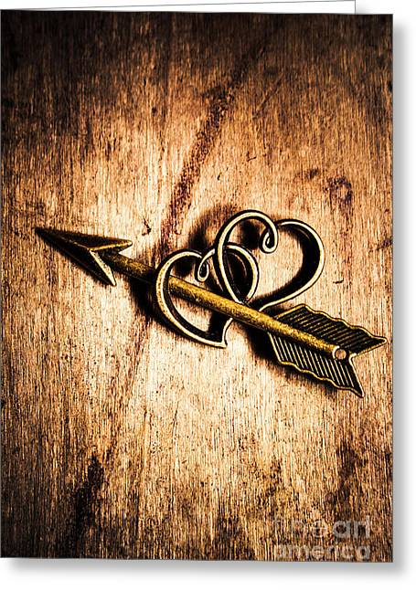 Cupid Arrow And Hearts Greeting Card by Jorgo Photography - Wall Art Gallery