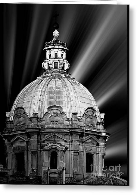 Looking At The Past Greeting Cards - Cupola in Rome Greeting Card by Stefano Senise