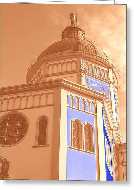 Cupula Iglesia Maria Auxiliadora - San Salvador Iv Greeting Card by Totto Ponce