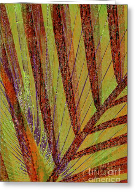 Palm Trees Mixed Media Greeting Cards - Curiosity Greeting Card by Kaypee Soh - Printscapes