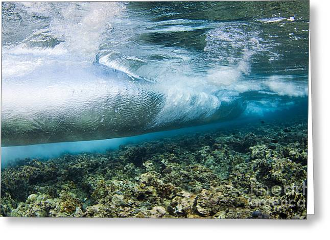 Curl of Wave from Underwater Greeting Card by Dave Fleetham - Printscapes
