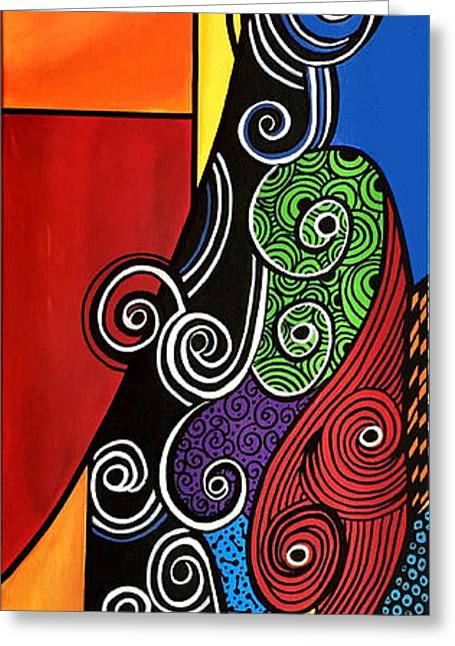Bold Style Greeting Cards - Curled Heart Greeting Card by Pam Reinke