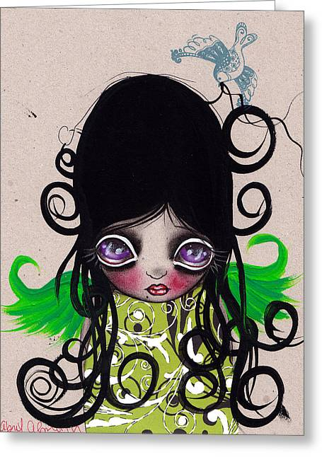 Surreal Pop. Abril Greeting Cards - Curls Greeting Card by  Abril Andrade Griffith