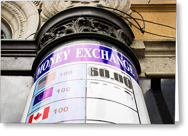 Currency Exchange Greeting Card by Tom Gowanlock