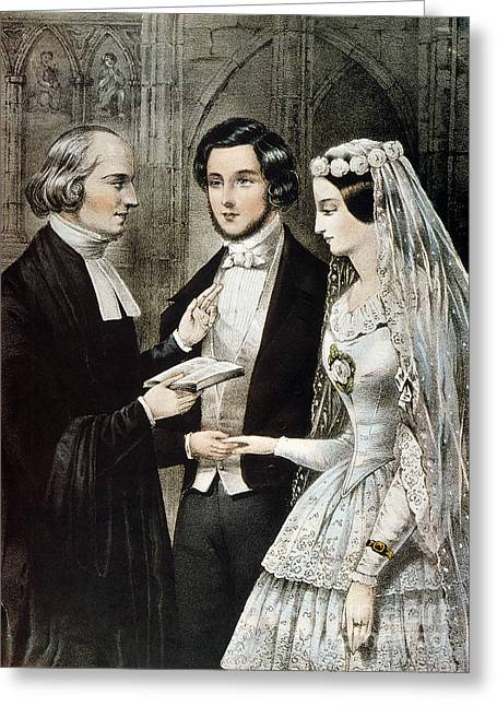 Vow Greeting Cards - Currier: The Marriage Greeting Card by Granger