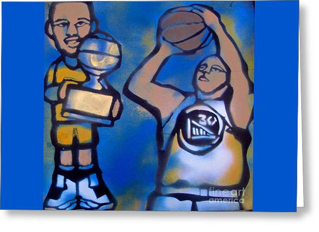 Basketballs Greeting Cards - Curry Sauce Shooter Greeting Card by Tony B Conscious