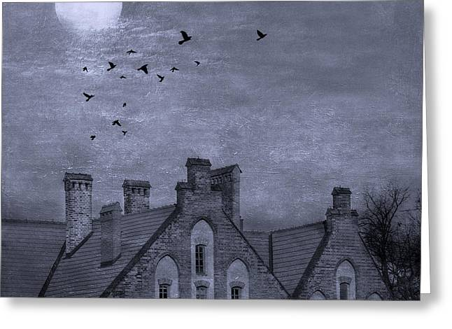 Curse Of Manor House Greeting Card by Juli Scalzi