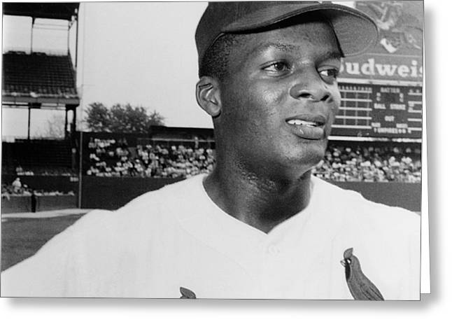 CURT FLOOD (1938- ) Greeting Card by Granger