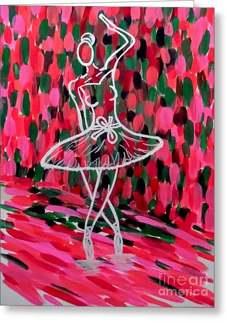 Ballet Dancers Greeting Cards - Curtain Call Greeting Card by Jilian Cramb