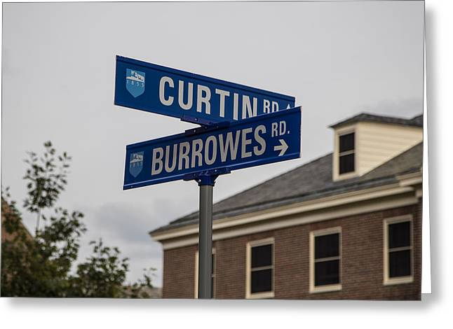 Curtin And Burrowes Penn State  Greeting Card by John McGraw
