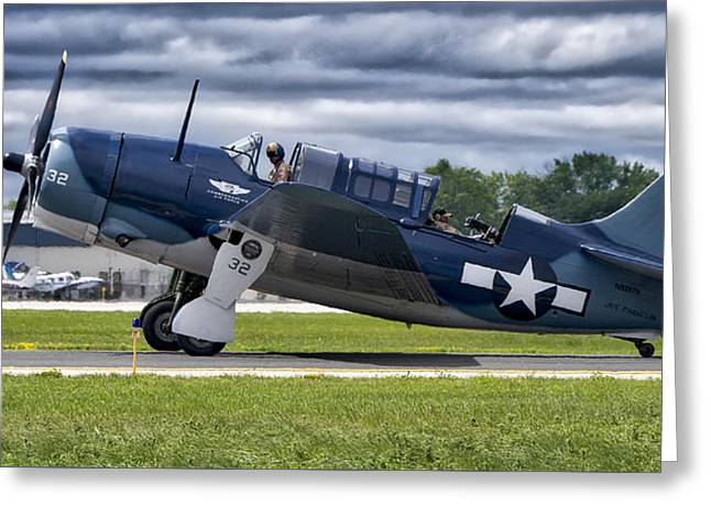 Curtiss Helldiver In Color Greeting Card by Steven Ralser
