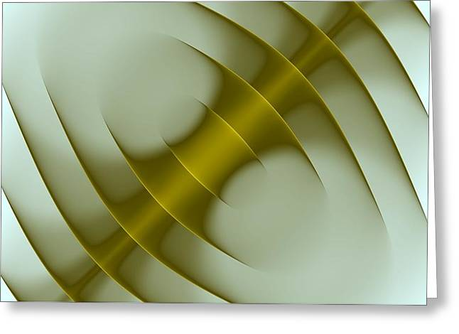 Abstract Digital Photographs Greeting Cards - Curves Abstract 003 Greeting Card by Wayne Wood