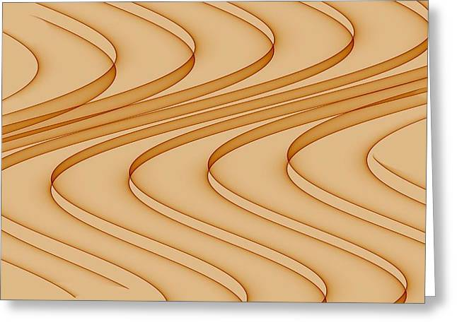 Abstract Digital Photographs Greeting Cards - Curves Abstract 006 Greeting Card by Wayne Wood