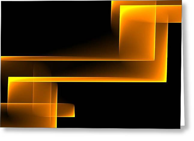 Abstract Digital Photographs Greeting Cards - Curves Abstract 008 Greeting Card by Wayne Wood
