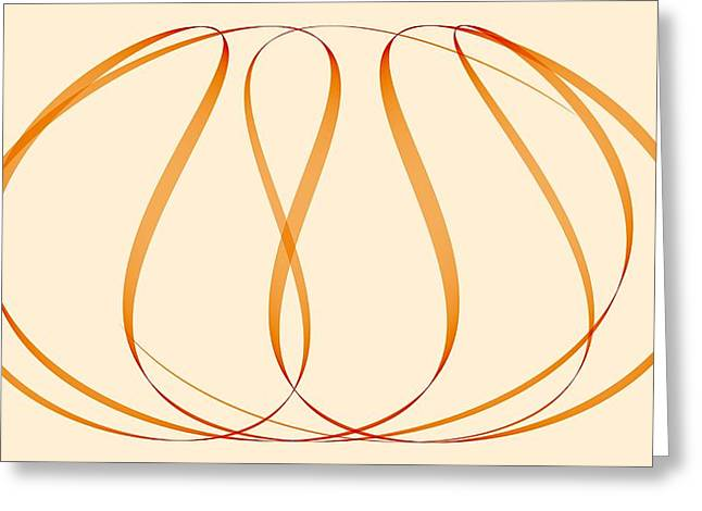 Abstract Digital Photographs Greeting Cards - Curves Abstract 011 Greeting Card by Wayne Wood