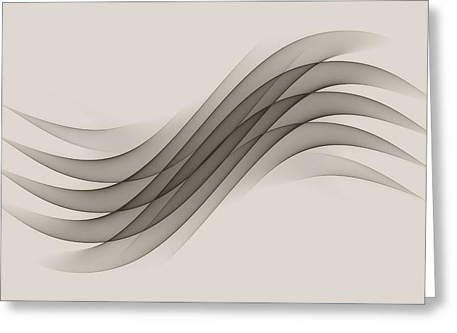 Abstract Digital Photographs Greeting Cards - Curves Abstract 012 Greeting Card by Wayne Wood