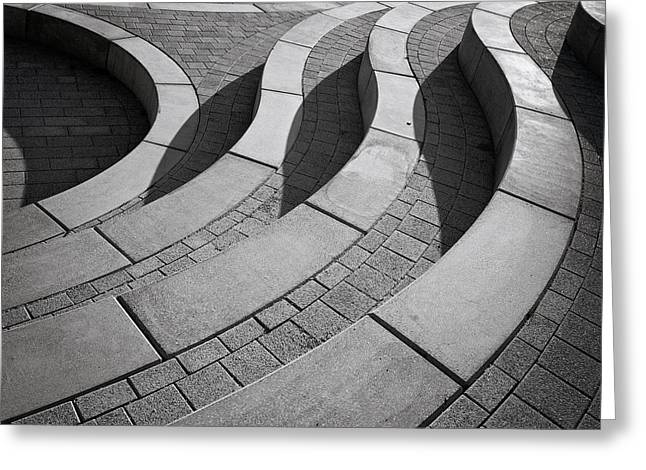 Curved Greeting Cards - Curves Greeting Card by Henk Van Maastricht
