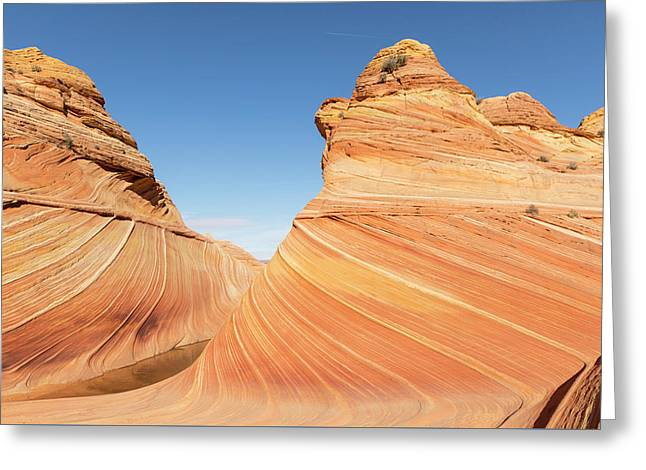 Curves In The Wave Greeting Card by Tim Grams