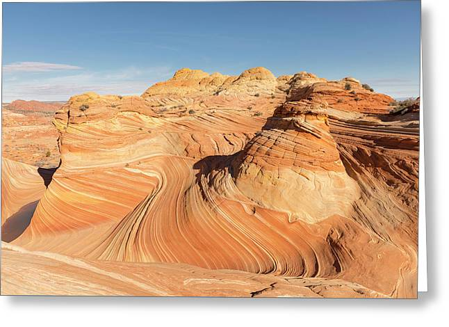 Curves Into Waves Greeting Card by Tim Grams
