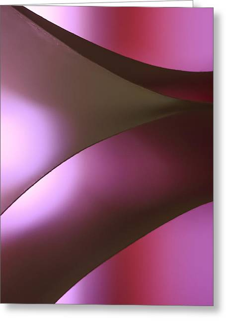 Violate Greeting Cards - Curving Light into Shadows Greeting Card by Yogendra Joshi