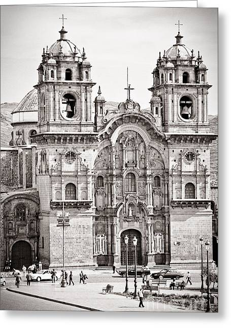 35mm Photographs Greeting Cards - Cusco Cathedral Greeting Card by Darcy Michaelchuk