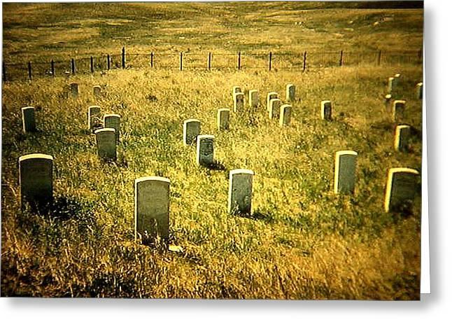 Little Big Horn Photographs Greeting Cards - Custer Greeting Card by Tom Zukauskas