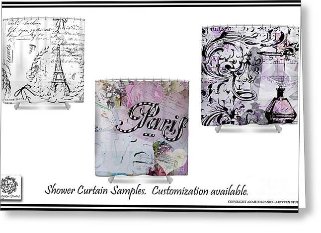 Love Letter Greeting Cards - Custom Artwork for Shower Curtains Greeting Card by Anahi DeCanio - ArtyZen Studios