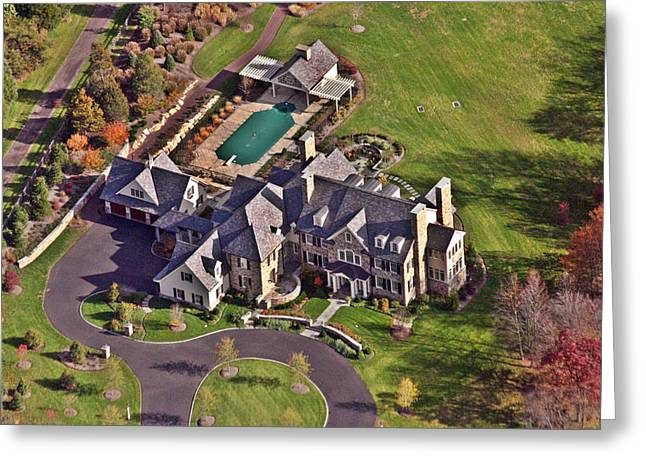 Custom Aerial Greeting Cards - Custom Home Blue Bell Pennsylvania II Greeting Card by Duncan Pearson