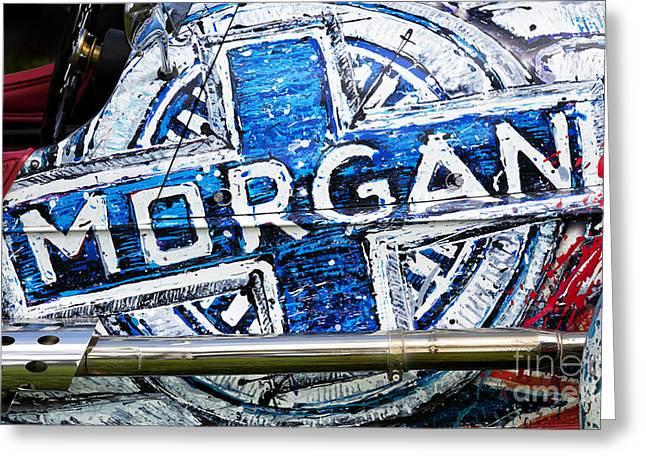 Automobile Artwork. Greeting Cards - Custom Morgan Greeting Card by Tim Gainey