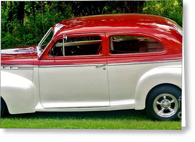 Customized Forty One Chevy Hot Rod Greeting Card by Marsha Heiken