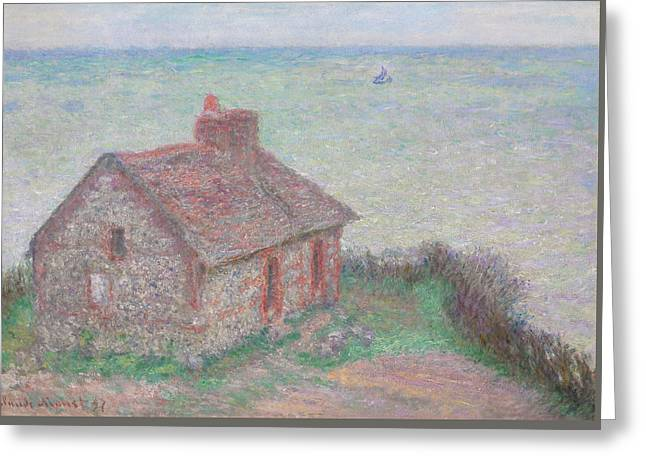 Boats In Water Greeting Cards - Customs House Greeting Card by Claude Monet