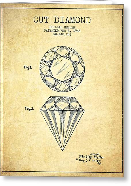Cut Diamond Patent From 1873 - Vintage Greeting Card by Aged Pixel