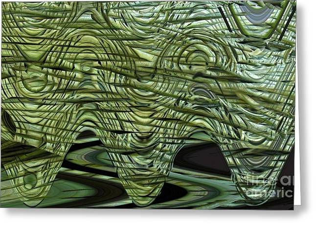 Cut Green Beans Greeting Card by Ron Bissett