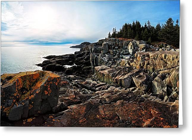 Cutler Coast Stillness Greeting Card by Bill Caldwell -        ABeautifulSky Photography