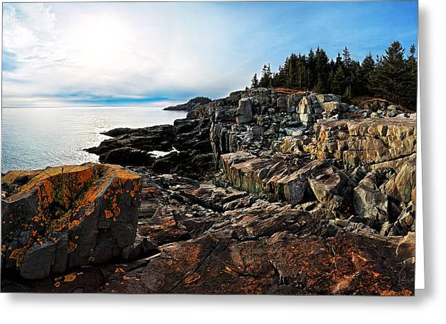 New England Ocean Greeting Cards - Cutler Coast Stillness Greeting Card by Bill Caldwell -        ABeautifulSky Photography